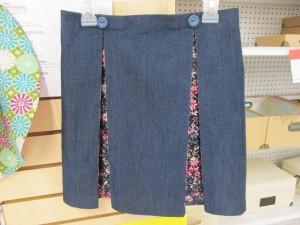 Lacy Denim Skirt
