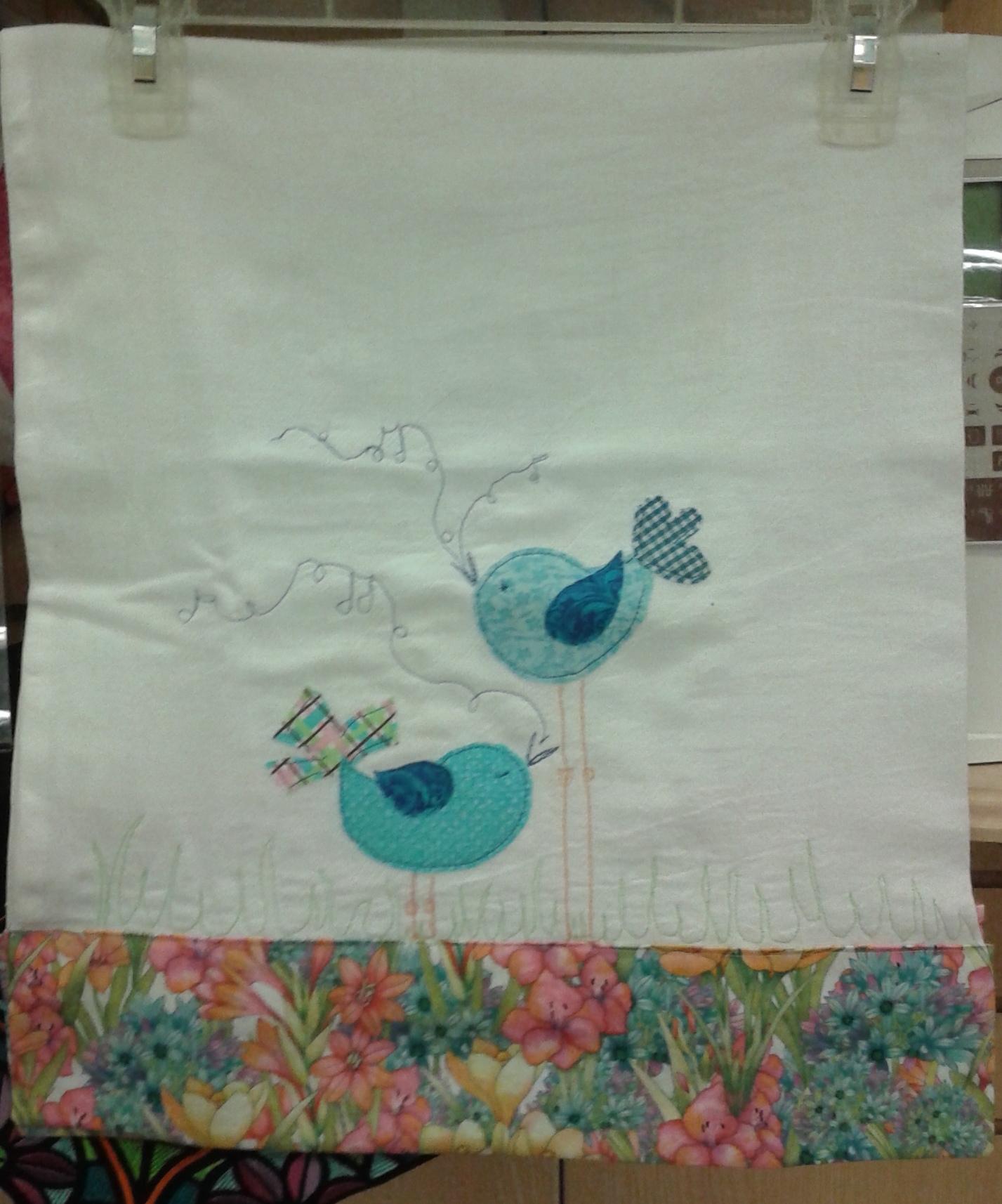 Let's Celebrate-Birdie Applique & Free Motion Towel